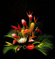 exotic tropical flowers reception wedding flowers, wedding decor, wedding flower centerpiece, wedding flower arrangement, add pic source on comment and we will update it. www.myfloweraffair.com can create this beautiful wedding flower look.