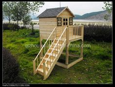 Free+Playhouse+Building+Plans | Building a Wooden Playhouse - Detailed Plans For Children's Playhouses