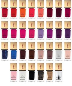 YSL : La Laque Couture Colour Collection !