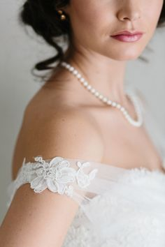 Elegant wedding dress -- I like the arm piece