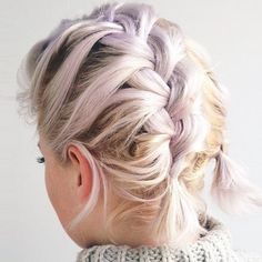 A double french plait is a sweet way to do braids.