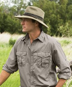 Our Weathered Safari Hat will look great on Dad! Shop Woolrich.com today. #FathersDay #woolrich1830