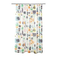 Add a pop of color to your bathroom.Ikea Doftklint shower curtain, $6.99, available at Ikea. - Provided by Refinery29