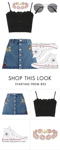 """perrie insp - festival"" by littlemixmakeup ❤ liked on Polyvore featuring Miss Selfridge, Topshop, Converse and BaubleBar"