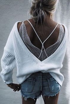 #summer #flawless #outfitideas | White + Denim