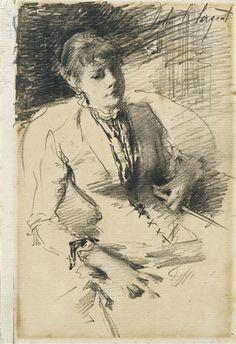 John Singer Sargent, ALLEGED PORTRAIT OF MADAME LOUISE BURCKHAEDT