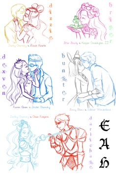 .ever after high couples #eah