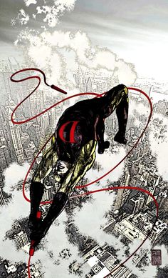 Artwork for cover of Daredevil Vol 2 #66. December, 2004. Art by Alex Maleev.