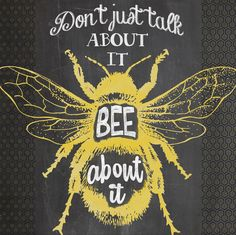 Isn't it hard to Bee about it every day? Chalkboard: Wall art by J. Schellack, via Behance Summer Chalkboard Art, Chalkboard Wall Art, I Love Bees, Bee Party, Bee Friendly, Bee Crafts, Bee Theme, Save The Bees, Bees Knees