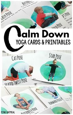 Kids Yoga Cards and Printables to calm down! Great for mindfulness activities for kids. A great way to incorporate yoga into the classroom. Perfect for brain breaks for kids. #mindfulness #kidsyoga #brainbreaks