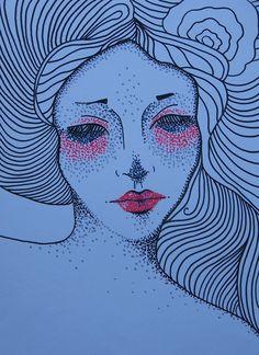 Drawing by Lady Lu. PITT artist PENS / Faber-Castell. * #drawing #kresba #nocnibdeni #dark #dots #fabercastell #woman #red #black #artwork #ladylu #ladyluartist #art #home #interior #decoration  #ilustrace Pitt Artist Pens, Black Artwork, Faber Castell, Red Black, Artworks, Dots, Woman, Decoration, Lady