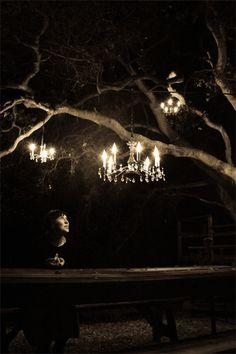 garden chandeliers.