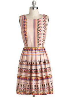 Trinkets of My Travels Dress, #ModCloth