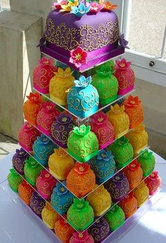 bright colorful images   Bright Colorful Wedding Cupcakes   Food lover