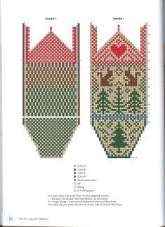 Fair Isle Pattern, Knitted Slippers, Blue Line, Knitting Patterns, Knitting Ideas, Mittens, Knit Crochet, Calendar, Stockings
