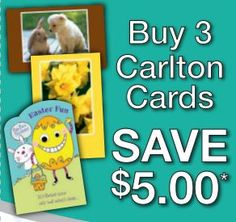 Buy 3 Cards and Save $5 at Carlton Cards