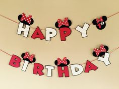Items similar to Minnie Mouse Banner 2 pc Minnie Party Minnie Mouse Happy Birthday Banner Custom Age Minnie Party Decorations Minnie Mouse Party on Etsy Mini Mouse Birthday Cake, Mickey Mouse Birthday, Mickey Minnie Mouse, Minnie Mouse Decorations, Minnie Mouse Birthday Decorations, 1st Birthday Girls, Happy Birthday Banners, Special Birthday, Disney Cars Party