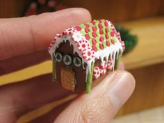 Red and Green Gingerbread House