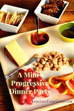 Hosting a Mini-Progressive Dinner Party from ReluctantEntertainer.com
