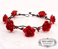 Red Rose Flower Crown                                                                                                                                                                                 More