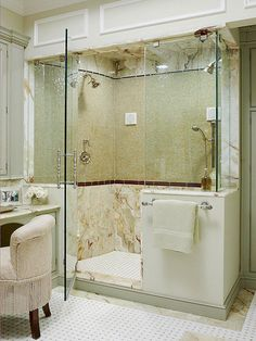Find ideas to create a gorgeous shower area in your bath.