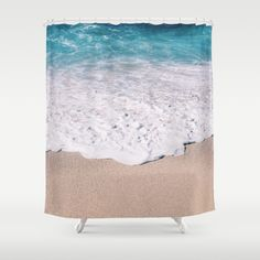 beach shore shower curtain
