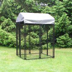 Archie & Oscar™ Abigail Steel Yard Kennel & Reviews | Wayfair Home Depot, Wire Dog Kennel, Dog Kennels, Dog Kennel Cover, Pet Resort, Different Dogs, Dog Fence, Pet Safe, Outdoor Dog