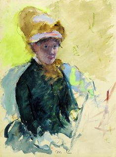 Read about Mary Cassatt, one of the most prominent American women in art in the century. Mary Cassatt's paintings fall under the Impressionist style, a movement which she was a part of. See several Impressionist paintings by Mary Cassatt. Edgar Degas, Woman Painting, Painting & Drawing, Artist Painting, Mary Cassatt Art, Pop Art, Female Painters, Google Art Project, National Portrait Gallery