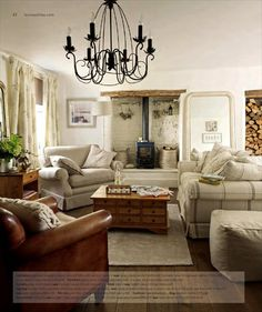 Living Room Wallpaper Designs For Home Cottage Living Rooms, Cottage Interiors, New Living Room, Living Room Interior, Home And Living, Living Room Decor, Shop Interiors, Laura Ashley Living Room, Laura Ashley Coffee Table