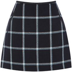 Victoria, Victoria Beckham Pleated Wool Mini Skirt ($355) ❤ liked ...