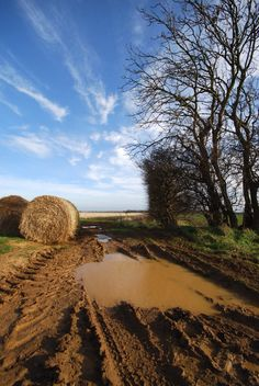 Hay bales and a mud hole - EPA believes this is a navigable water way! #Ditchtherule