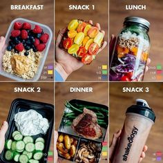 Quick and Simple 21 Day Fix Meal Prep for the - Calorie Level / Breakfast: 1 cup oatmeal (made from ½ cup rolled oats) with 3 tsp. peanut butter and 1 cup fresh berries purple, 2 yellow, 3 tsp.) Snack Avocado Toast with Tomatoes made wit Breakfast Snacks, Meal Prep Breakfast, 21 Day Fix Breakfast, Healthy Breakfast For Weight Loss, Clean Eating Breakfast, Quick Breakfast Ideas, Lunch Snacks, Healthy Filling Breakfast, Clean Eating Recipes For Weight Loss