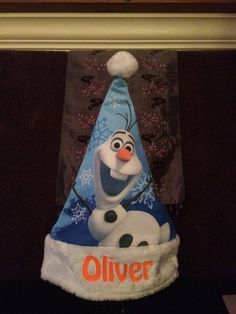 Frozen OLAF Christmas Stocking Cap Hat  - Personalized by CACBaskets on Etsy