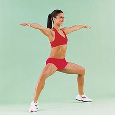 Seven moves for sculpted, sexy legs, plus the best lower-body cardio and solutions for saddlebags and cellulite. Cellulite, Knee Fat, Fitness Diet, Health Fitness, Workout Fitness, Plie Squats, Thigh Exercises, Pose, Trainer