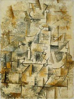 Cubist Design (c.1911) by Georges Braque | Oil on canvas, 72.5 x 54 cm  Collection: The Fitzwilliam Museum