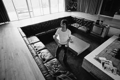 I love Keith Moon and I love sunken living rooms/conversation pits