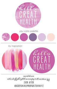 hello great health brand board by Heart & Arrow