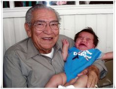 Junior holding his great great grandson, Riko. Photo contributed by Junior (J.D.) Medina.