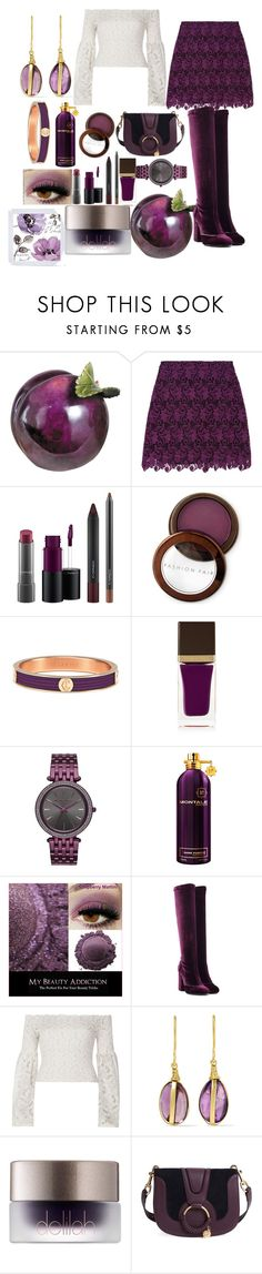 """""""plum"""" by esha2232 ❤ liked on Polyvore featuring Alice + Olivia, MAC Cosmetics, Fashion Fair, Charriol, Tom Ford, Michael Kors, Montale, Laurence Dacade, River Island and Pippa Small"""