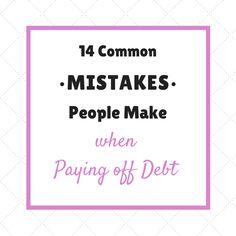 Have you ever wondered if you are paying off debt the right way? More than likely, you are making one of these ridiculously common mistakes. Here are 14 of the biggest mistakes I see people making when it comes to paying off debt. Knowledge is power my friends. It's time to educate yourself. 1. You …