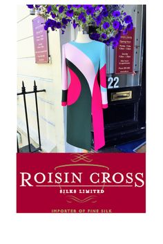 Selection of wool crepe double weight fabrics in various colours including black, blue, pink, available at Roisin Cross Silks Dublin call us on 01 2846282 Wool Fabric, Groom Dress, Winter Months, Dublin, Day Dresses, Mother Of The Bride, Colours, Silk, Blue