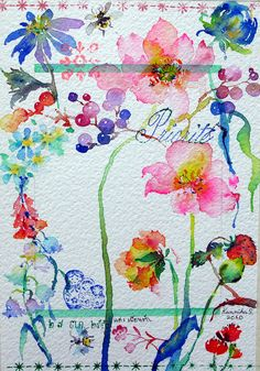 art journal inspiration - Artful Watercolor