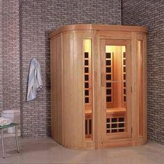 Wooden stand alone sauna room