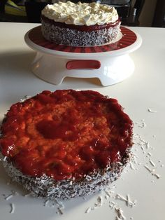 Chocolate Jam-n-Cream Lamington Cake - Cakeophilia Lamington Cake Recipe, Big Chocolate, Custard Powder, Sponge Cake, Cake Pans, Cake Recipes, Vanilla, Cooking Recipes, Fish