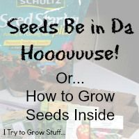 How to start your seeds inside. Get a headstart on growing your garden by starting indoors  | ITrytoGrowStuff | practical and funny