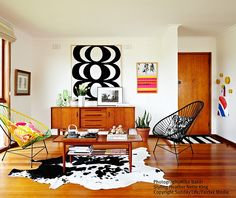 Maria Malakellis's mid-century Melbourne home via Heather Nette King. Photo by Mike Baker, styling by HNK, copyright owned by Sunday Life / Fairfax Media.