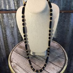 "Vintage  Trifari Lucite Necklace Lovely Vintage Trifari Black lucite &  gold Tone Necklace in good condition. Necklace is 32"" and very pretty with the black & gold. Thanks for looking.❤️❤️❤️ Vintage Jewelry Necklaces"