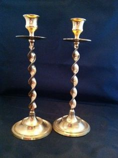 Totally Twisted Brass Candlestick Holders