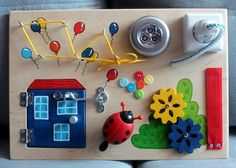 """Busy Board """"Micro house"""", Activity Board, Sensory Board, Montessori educational…"""