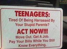 """Teenagers..."""